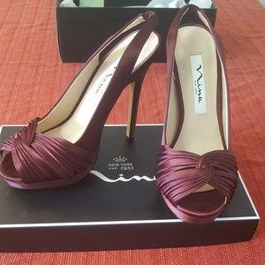 Nordstrom Nina peep-toe slingback heels